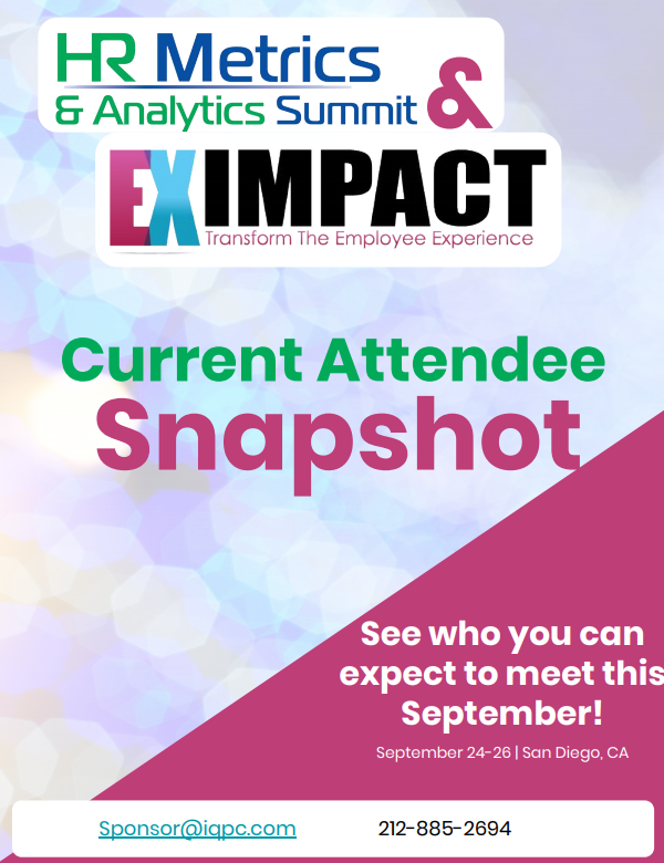 20th HR Metrics & Analytics Summit - Current Attendee Snapshot