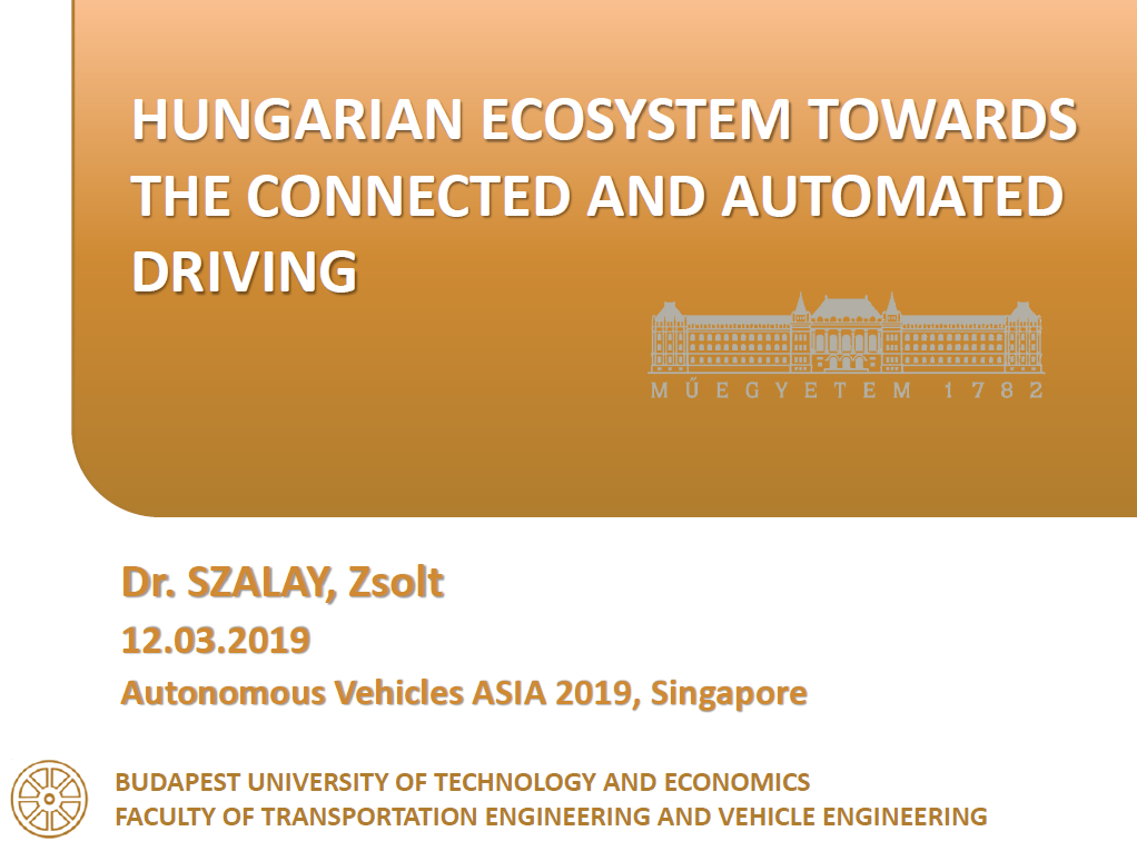 Read the Past Presentation - Hungarian Ecosystem Towards the Connected Automated Driving