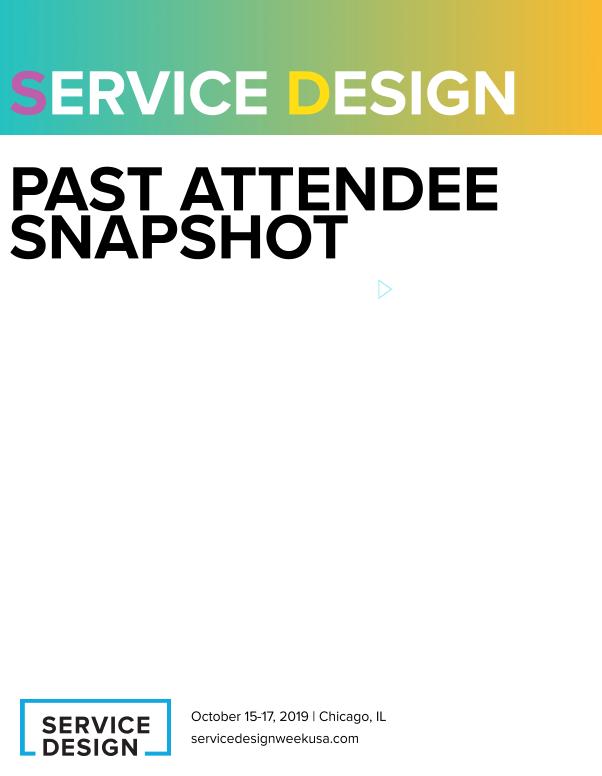 Service Design Week Past Attendee List