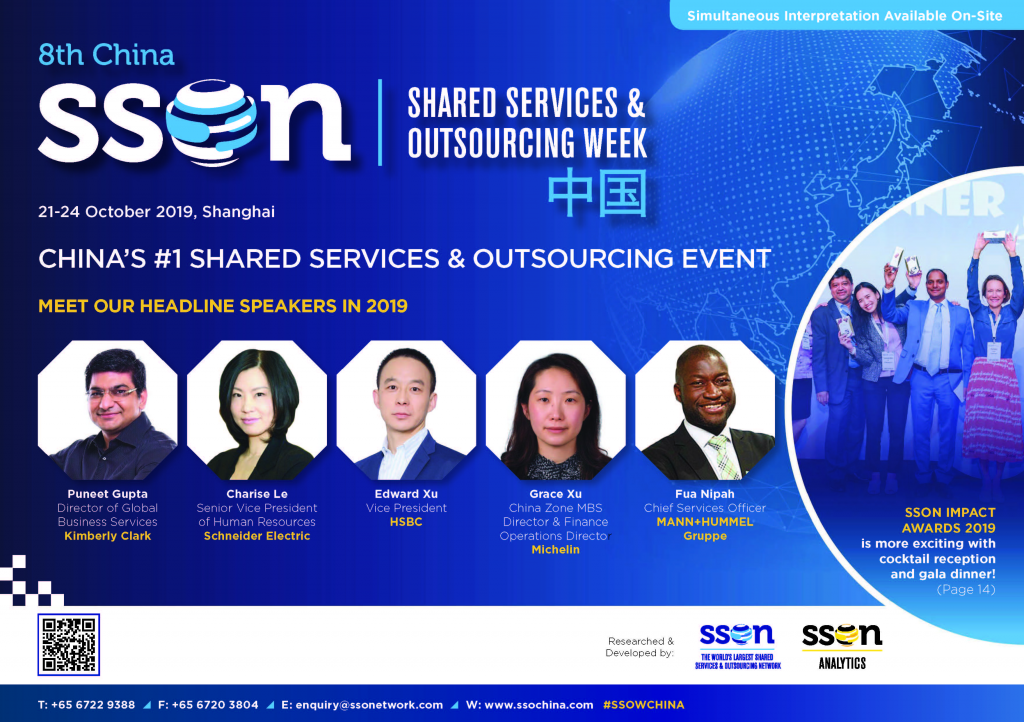View the full agenda - 8th Shared Services & Outsourcing Week China Brochure 2019
