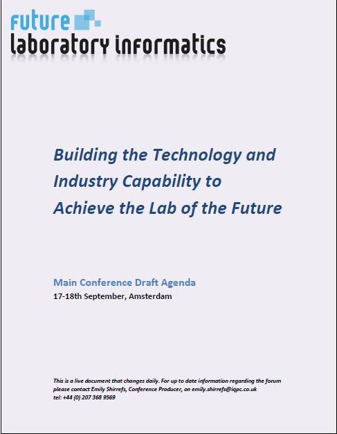 Future Laboratory Informatics 2019 Draft Agenda