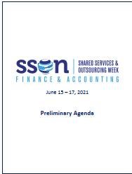 Shared Services for Finance and Accounting Online Preliminary Agenda