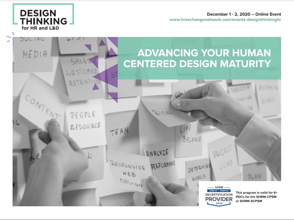 Design Thinking for HR and L&D Winter Agenda