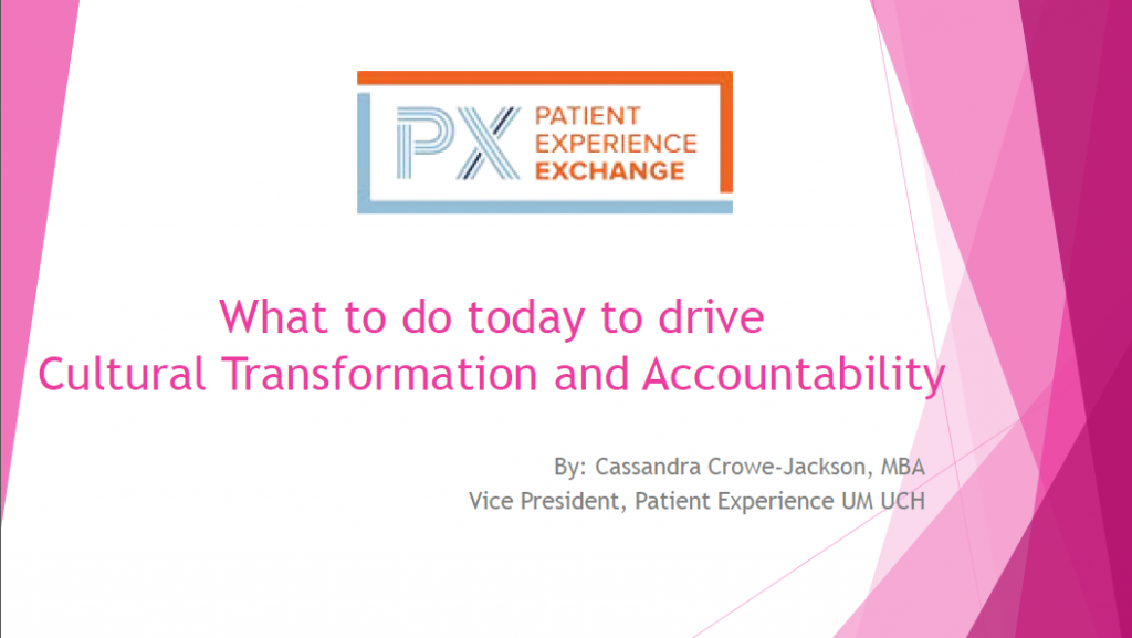 Cassandra Crowe-Jackson: What to do today to drive Cultural Transformation and Accountability