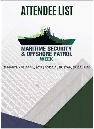 2019 Attendee list - Maritime Security & Offshore Patrol Week