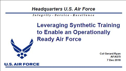 Developing a Realistic Threat Environment and Maintaining Pilots Operational Readiness