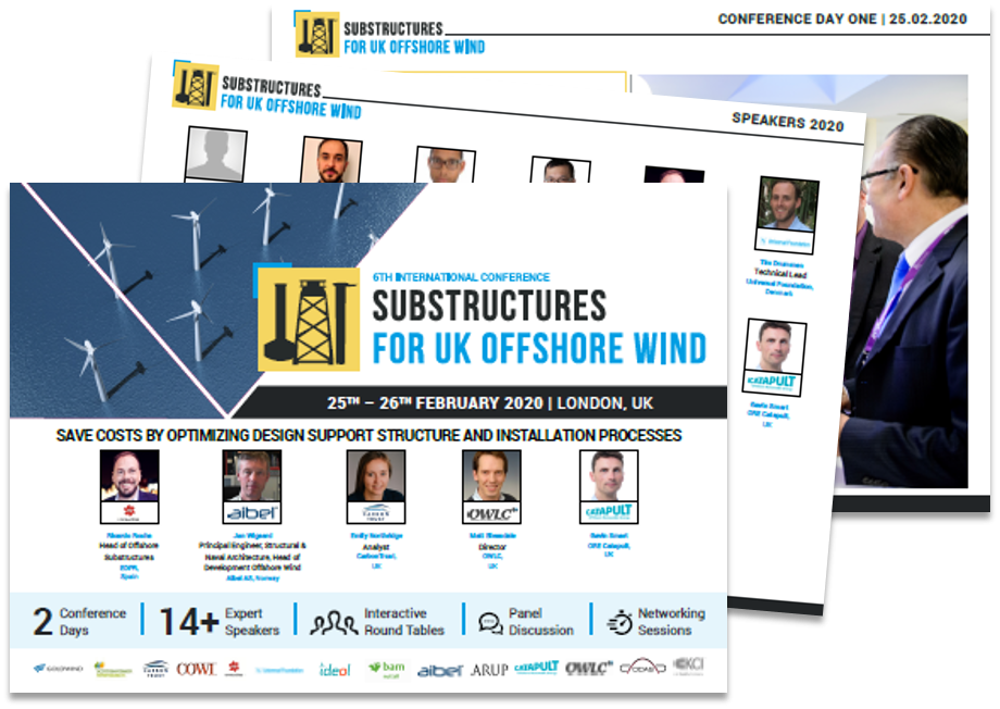 Join the 6th International Conference Substructures for UK Offshore Wind 2020