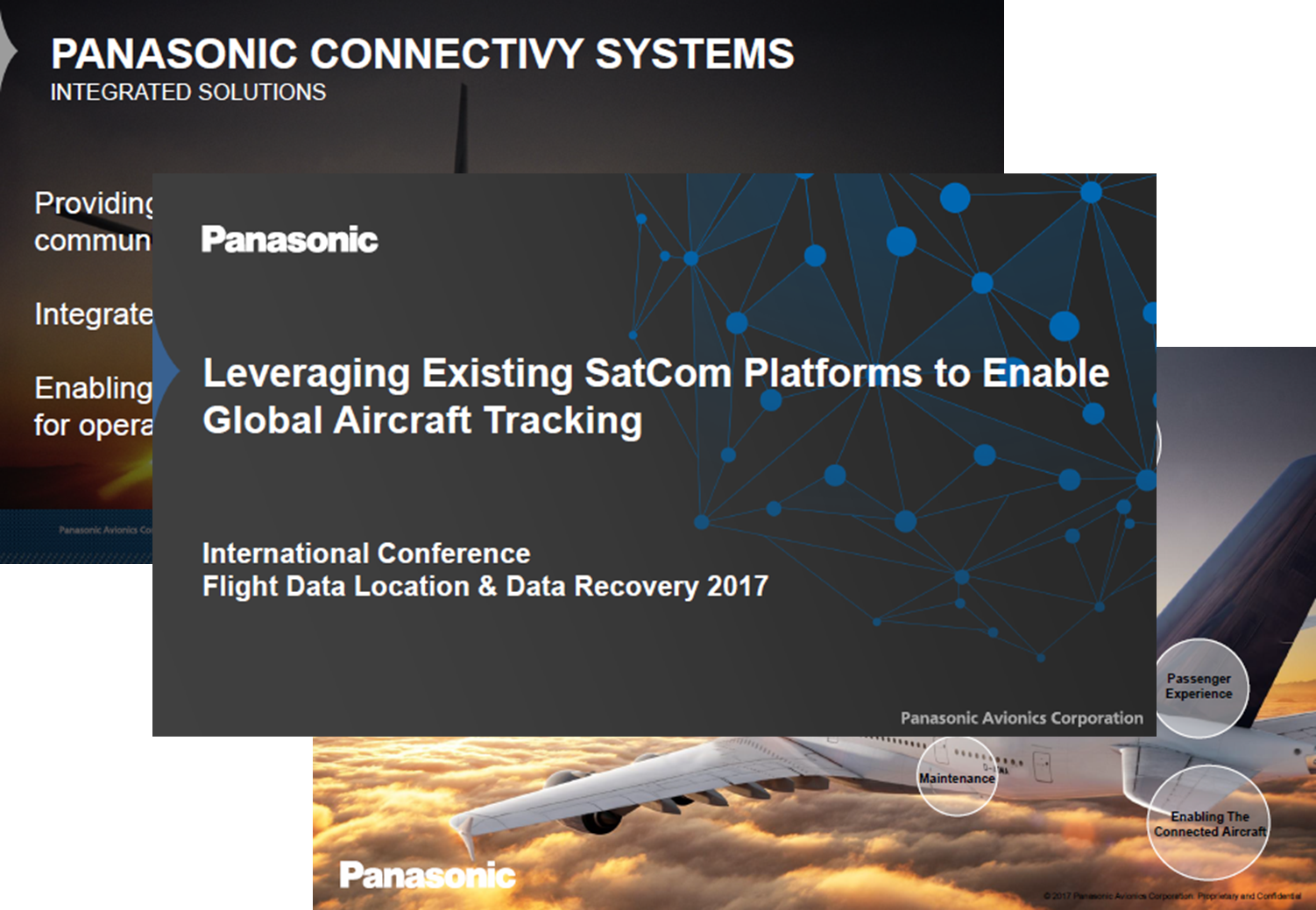 Presentation by Jeffrey Rex from Panasonic about Enabling Global Aircraft Tracking