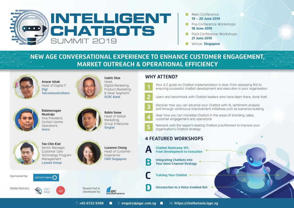 Download Intelligent Chatbots 2019 Full Brochure