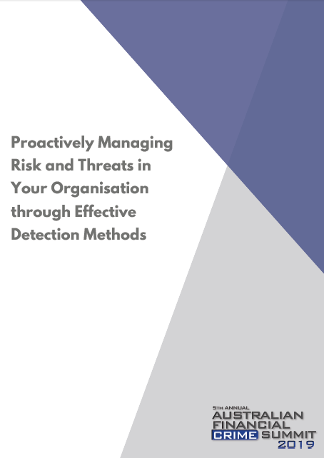 Proactively Managing Risk and Threats in Your Organisation through Effective Detection Methods