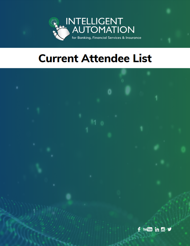 Intelligent Automation for BFSI 2020: Current Attendee List