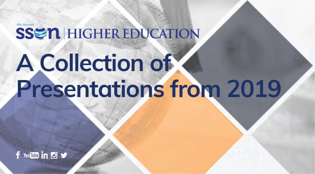 A Collection of Past Presentations from Shared Services for Higher Education 2019