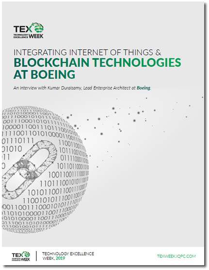 Integrating Internet of Things & Blockchain Technologies at Boeing