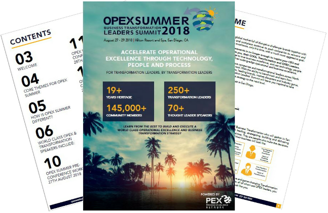 OPEX Summer 2018 - Event Brochure