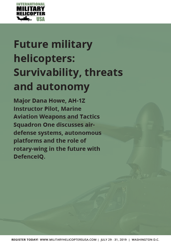 Future Military Helicopters: Survivability, threats and autonomy