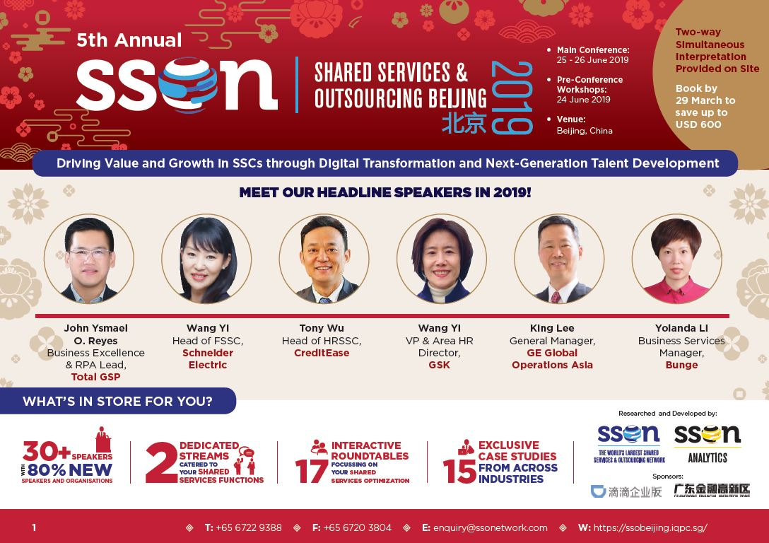 5th Annual Shared Services & Outsourcing Beijing Summit 2019 Full Brochure spex
