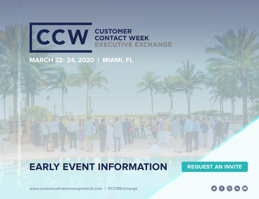 2020 Early Event Info |  CCW Executive Exchange Miami