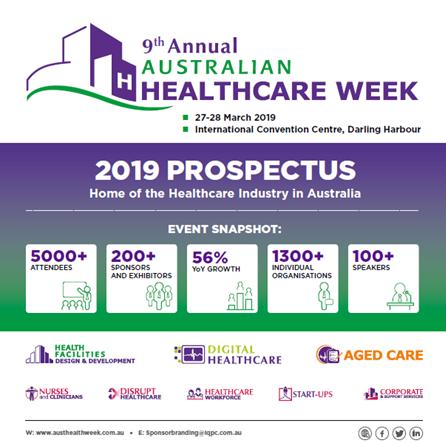 Australian Healthcare Week 2019 Sponsorship Prospectus