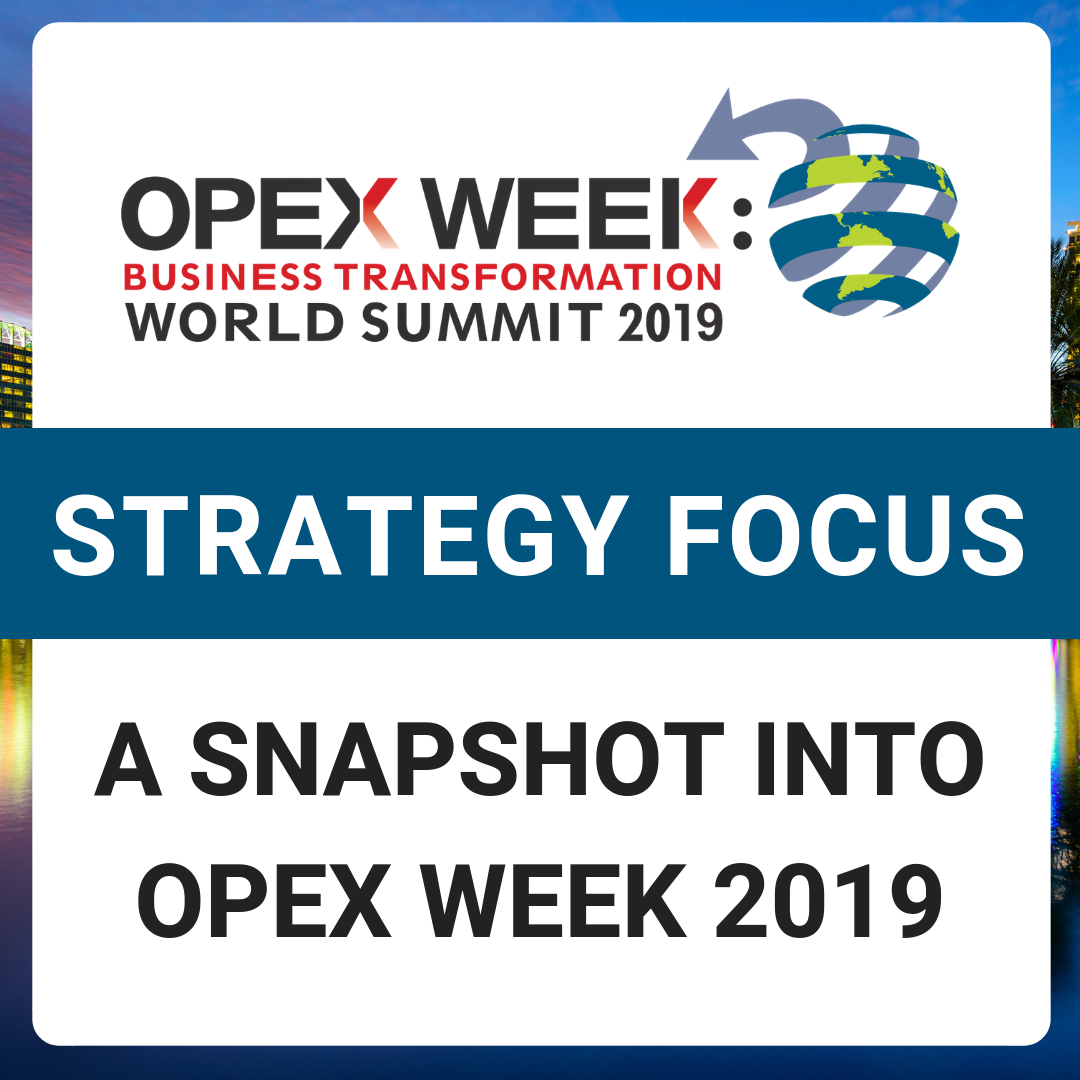 OPEX Week 2019 - Top Sessions with a Strategy Focus