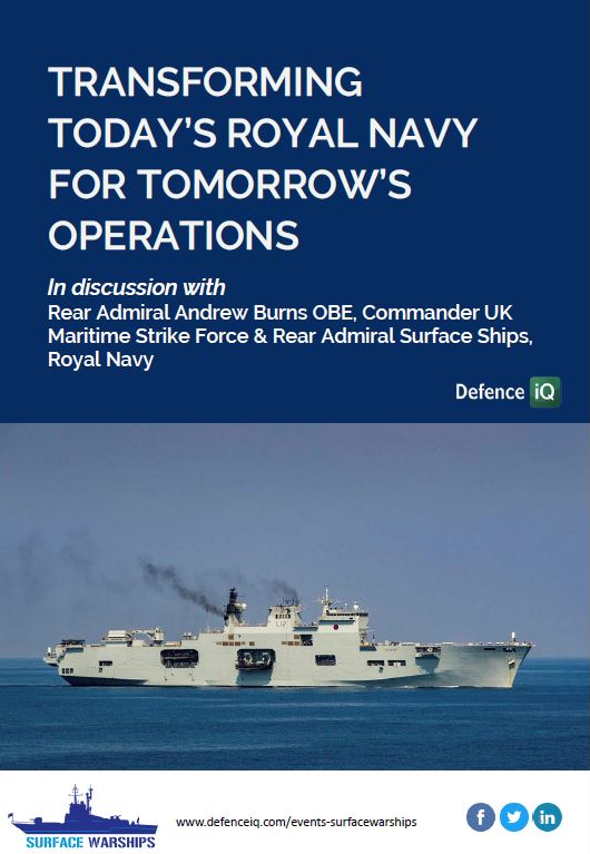 Transforming today's Royal Navy for tomorrow's operations: Insights from Rear Admiral Andrew Burns OBE