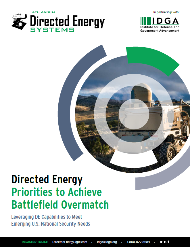 Report: U.S. Directed Energy Priorities to Achieve Battlefield Overmatch