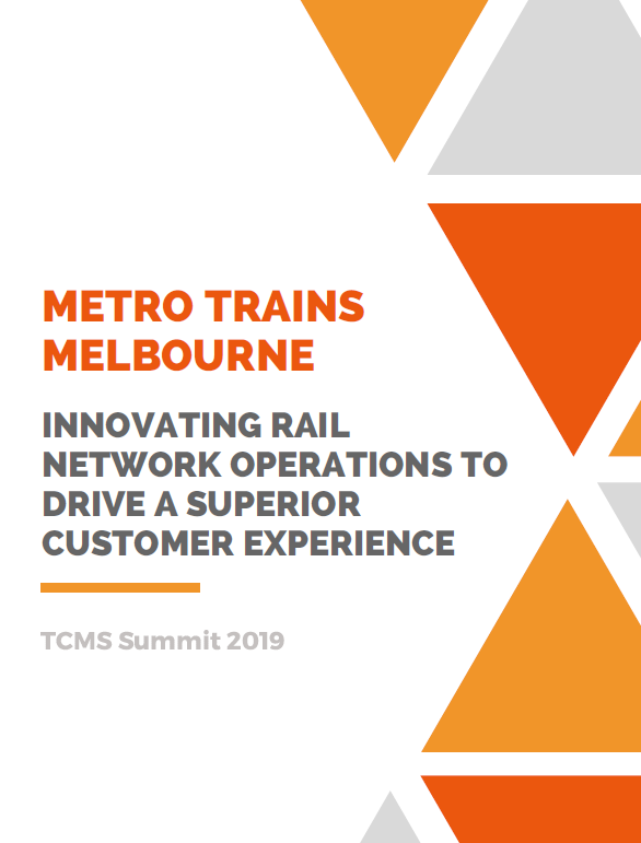Innovating Rail Network Operations to Drive a Superior Customer Experience