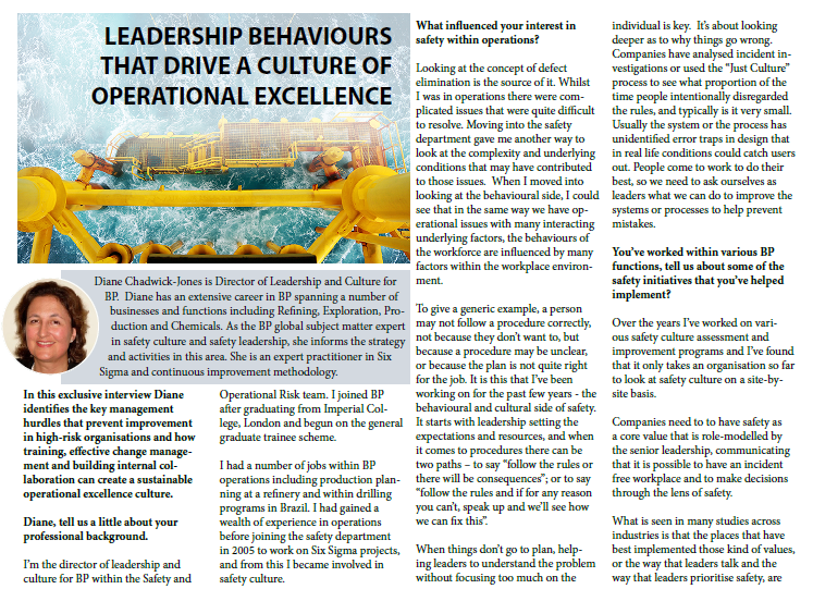 Leadership Behaviours that Drive a Culture of Operational Excellence