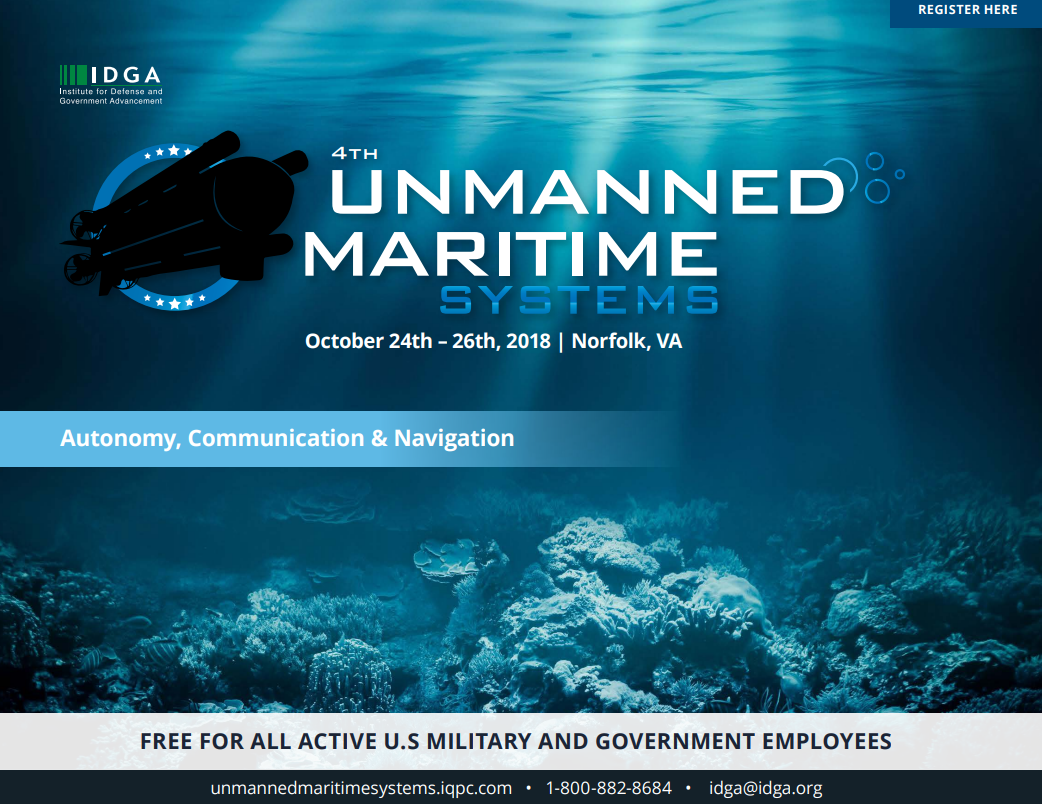 Unmanned Maritime Systems - Access the Agenda