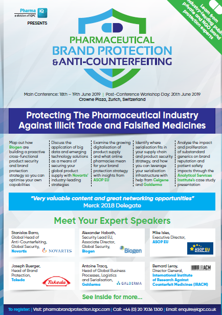 Pharmaceutical Brand Protection & Anti-Counterfeiting Agenda: