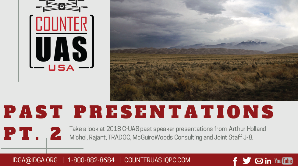 Counter UAS Past Presentation Packet: Part 2