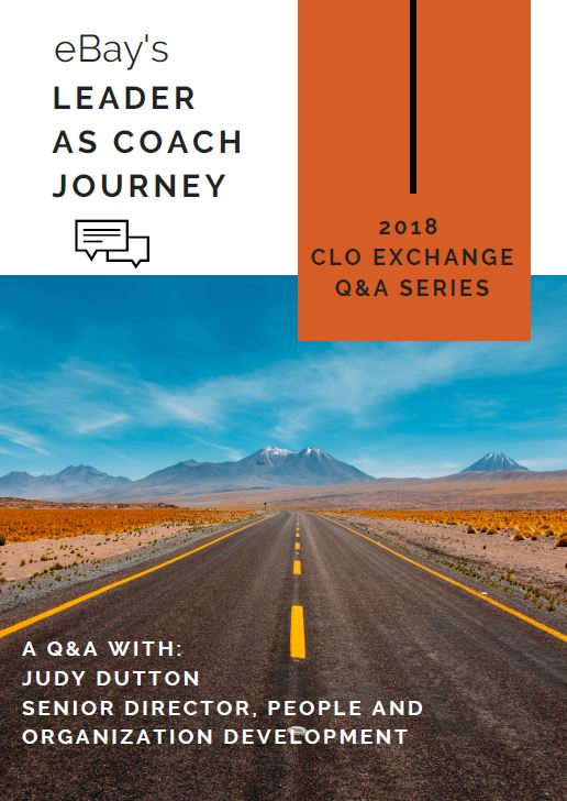 eBay's Leader as Coach Journey - Q&A with eBay's Senior Director, Global Talent & Organization Development, Judy Dutton