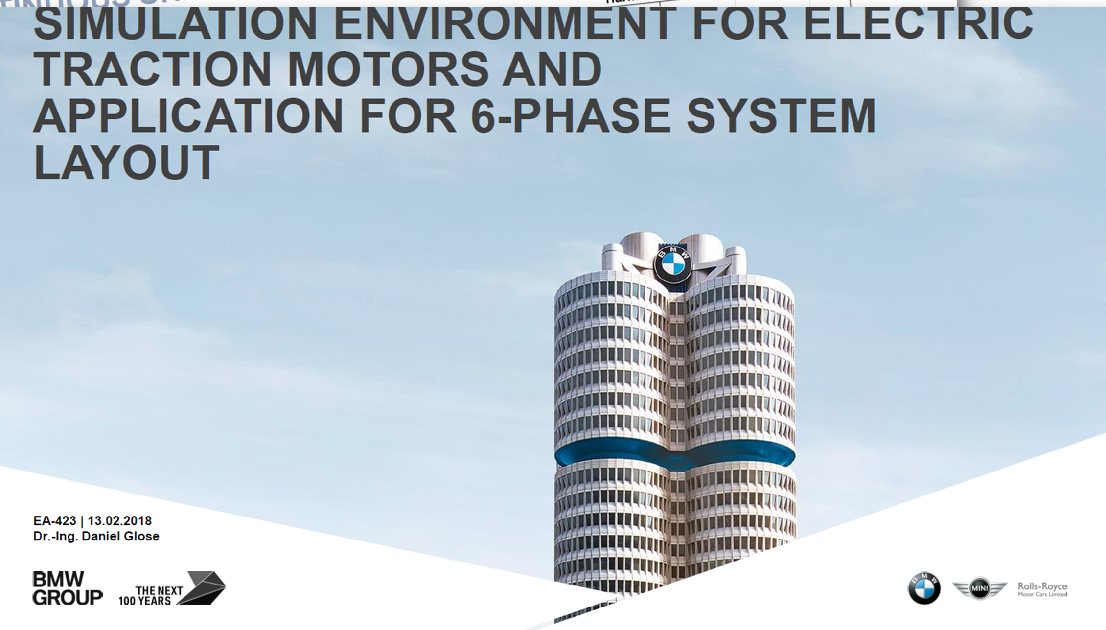 BMW Presentation on Advanced E-Motor Technology using 6 Phase Drives