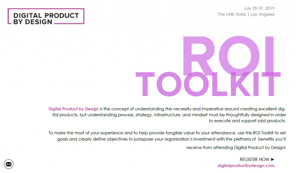 Digital Product by Design ROI Toolkit