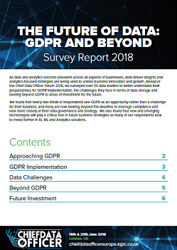 The Future of Data: GDPR and Beyond - Survey Report 2018