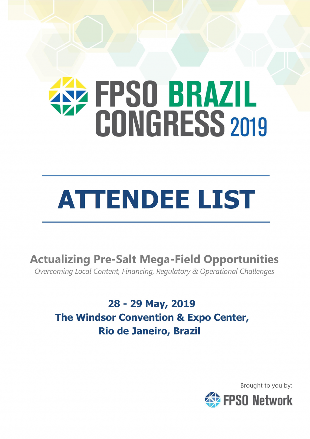 FPSO Brazil Congress 2019 - Attendee List