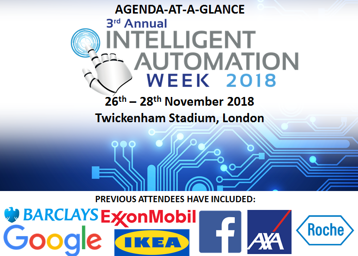 Intelligent Automation Week 2018 - Agenda-at-a-Glance