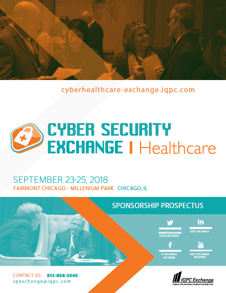 2018 Cyber Security for Healthcare Exchange Sponsorship Brochure