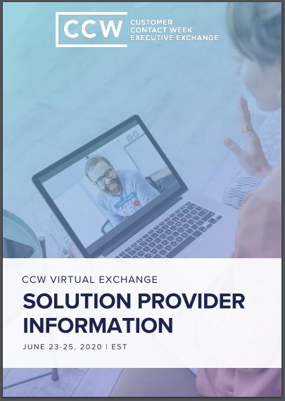 CCW Virtual Exchange June 2020 | Solution Provider Info Flyer