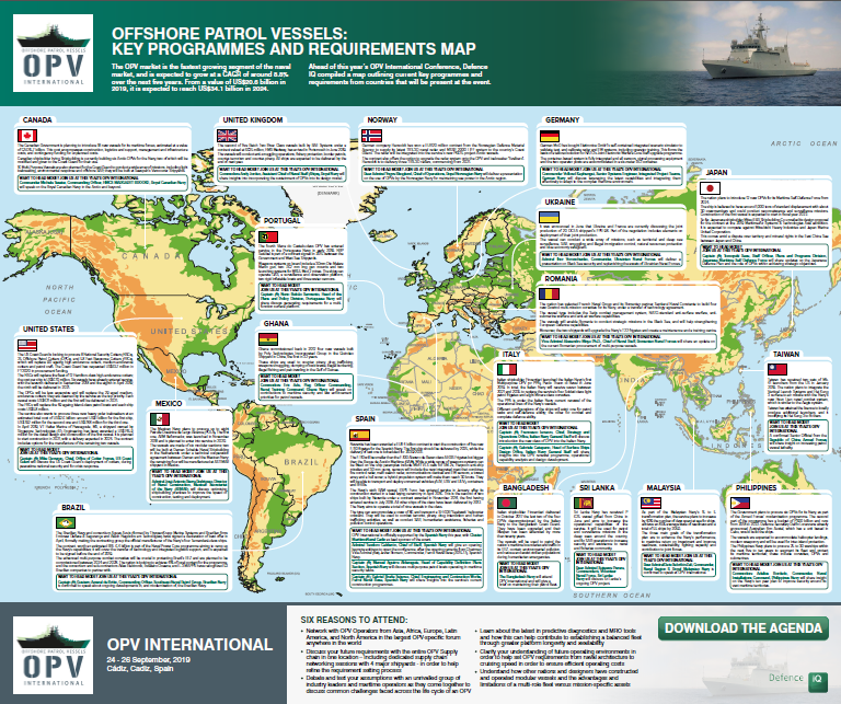 2019 Global Offshore Patrol Vessels Key Programmes and Requirements Map