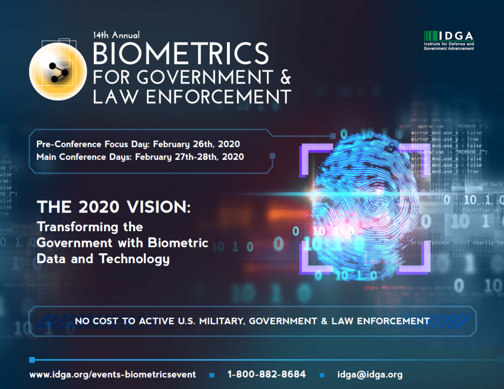 Biometrics for Government & Law Enforcement 2020 Official Agenda