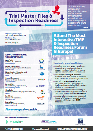Download The Agenda | Trial Master File and Inspection Readiness