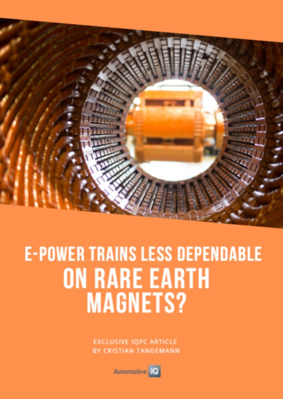 Report on are E-Power Trains Less Dependable on Rare Earth Magnets