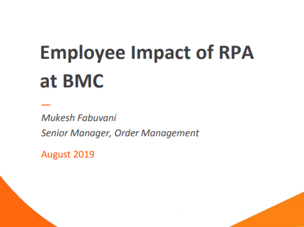Employee Impact of RPA at BMC