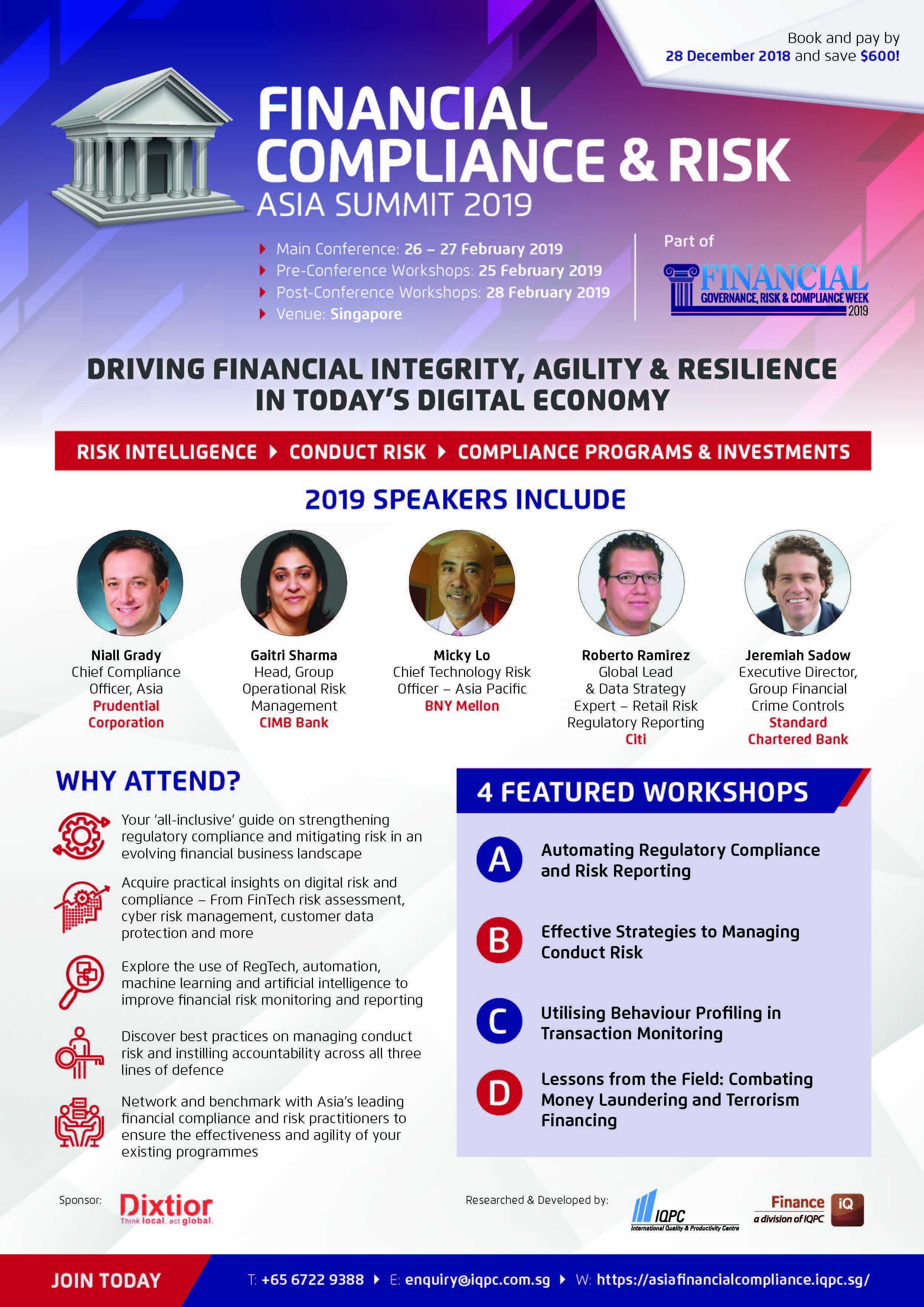 Download the Event Guide - 3rd Annual Financial Compliance & Risk Asia Summit Brochure
