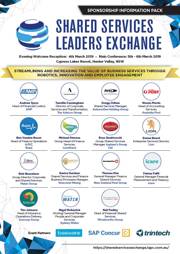 Past Sponsor Information Pack - Shared Services Leaders Exchange 2019