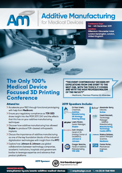 Agenda | Additive Manufacturing for Medical Devices 2019
