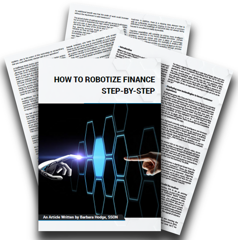 """Artikel """"How to robotize Finance step-by-step"""" mit Handlungsempfehlungen für CFOs"""