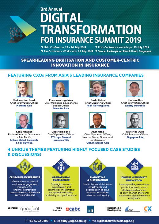 Digital Transformation for Insurance Summit Event Agenda