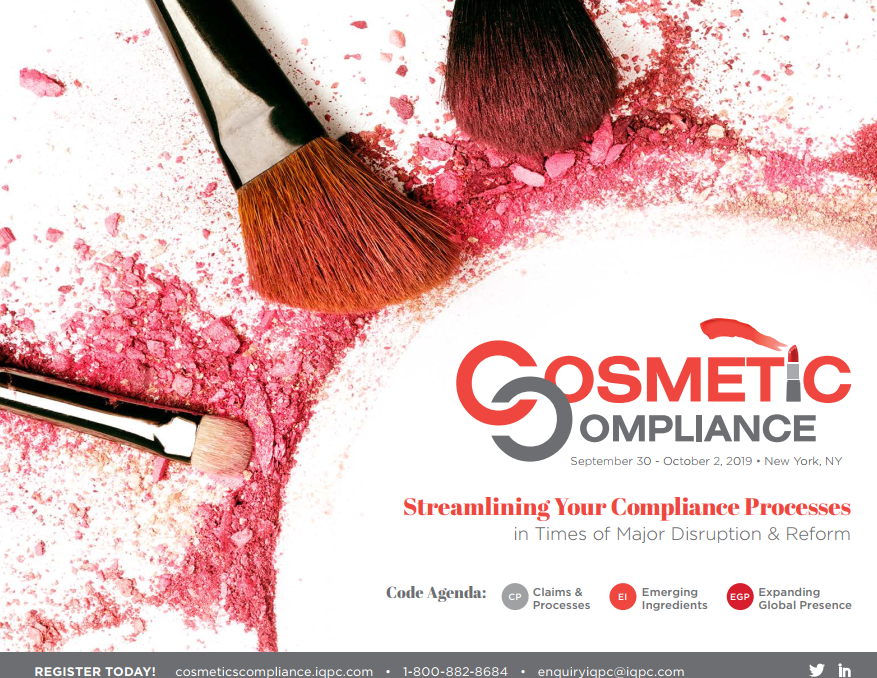 Cosmetic Compliance Fall 2019 Agenda