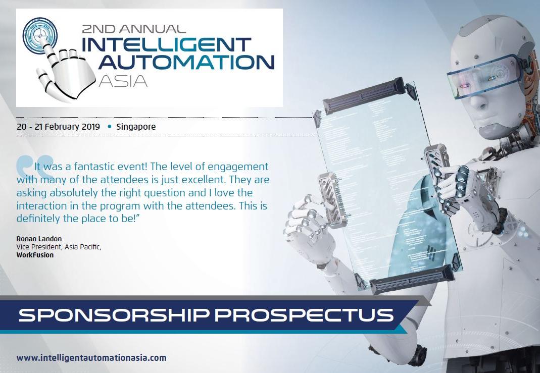 2nd Intelligent Automation Asia - Sponsorship Prospectus